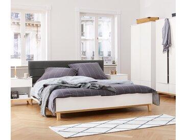 Bett mit gepolstertem Kopfteil - dunkelgrau - Holz - Tchibo
