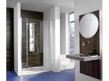 Breuer®-Dusche »Espira« – Drehtür mit Festteil für Nische - silber - Tchibo
