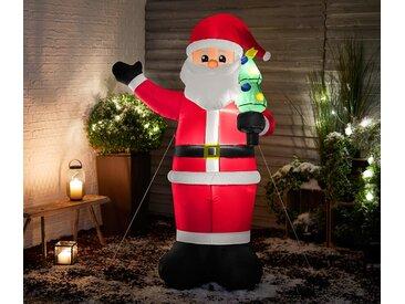 Aufblasbarer XXL-LED-Weihnachtsmann - schwarz - Tchibo