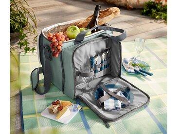 Picknicktasche mit Kühlfach - grau - 100% Baumwolle - Tchibo