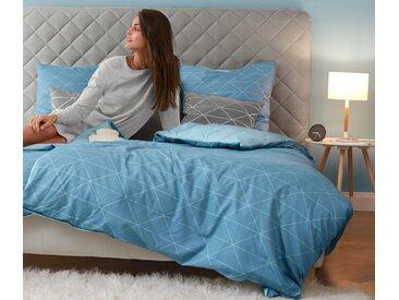 Renforce-Wendebettwäsche - hellblau - 100% Baumwolle - Tchibo- Maße: 155 x 220 cm