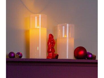 2 LED-Echtwachskerzen im Glas - creme - Tchibo
