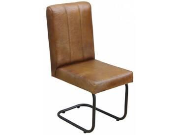 Freischwinger Lederstuhl Oxford Industrial Sessel
