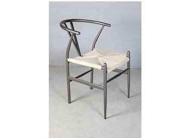 Design Stuhl Plettenberg Gartenstuhl Metall Rattan