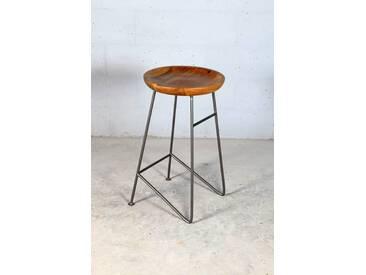 Design Barhocker Louis Retro Metall Holz Industrial Vintage iron