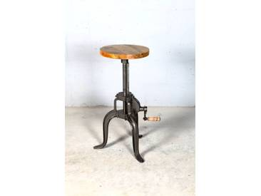 Industrial Hocker Barhocker höhenverstellbar mit Kurbel Drehhocker Vintage retro Eisen
