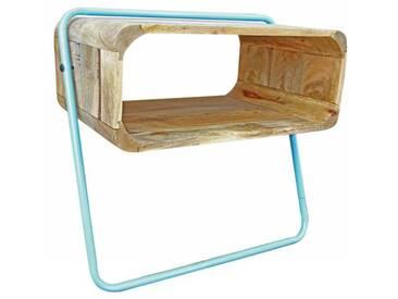 Design Regal Schränkchen Holz und Metall retro Nachttisch
