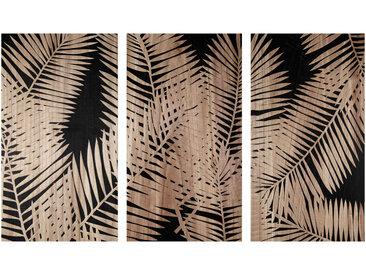 Triptychon mit Gravur mit Blättermotiven 150x90