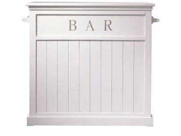 Barmöbel aus Holz, B 120cm, weiß Newport
