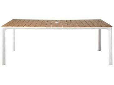 Gartentisch aus weißem Aluminium für 6/8 Personen L200 Fuji