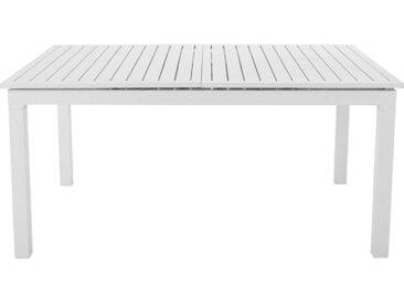 Ausziehbarer Gartentisch aus Aluminium, B 160 bis 210 cm, weiß Extenso