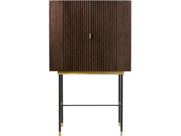 2-türiges Barmöbel mit 1 Schublade aus Akazienholz und Metall Sterling