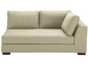 Ausziehbares modulares Sofa mit rechter Armlehne aus Baumwolle kittfarben Terence