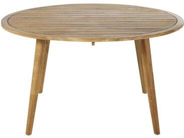 Runder Gartentisch aus massivem Akazienholz für 6 Personen D140 Noumea