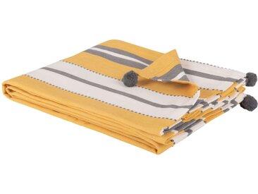 Decke aus Baumwolle mit Streifen 180x240