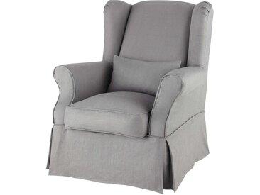 Sesselbezug aus Leinen, grau  Cottage