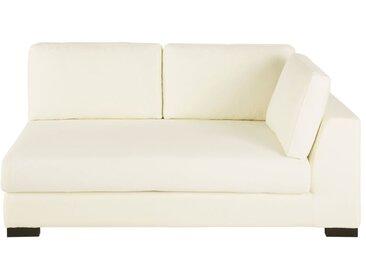 Sofamodul mit Armlehne rechts, ausziehbar mit elfenbeinfarbenem Baumwollbezug Terence