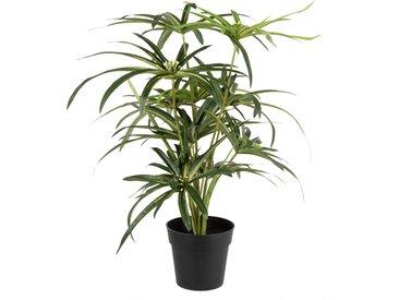 Künstliche Pflanze im schwarzen Topf