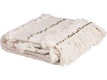 Decke aus Baumwolle, beige, 160x210