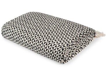Decke aus Baumwolle, schwarze-weiße 130x160