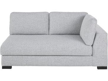 2-Sitzer-Sofamodul mit Armlehne rechts, ausziehbar und hellgrau meliert Terence