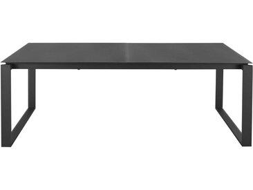 Ausziehbarer Gartentisch aus Aluminium für 8/10 Personen, anthrazitgrau L206/266 Guam