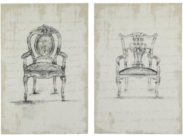 Bedruckte Sessel-Leinwandbilder (x2) 80x120