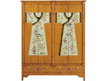 Holzschrank, B150cm, bedruckt Kimono