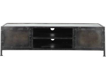TV-Lowboard im Industrial-Stil aus Metall schwarz Edison