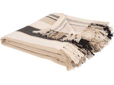 Decke aus Baumwolle mit Streifen 160x210