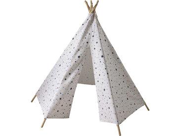 Kindertipi mit Dreieck- und Sternenmuster