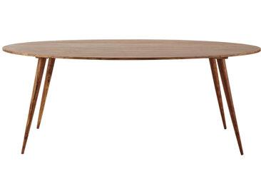 Ovaler Esstisch aus massivem Sheeshamholz, L200 Andersen