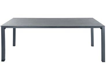 Gartentisch aus Hartglas und Aluminium, B 220cm, anthrazit Square Garden Square Garden