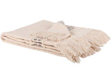 Decke aus Baumwolle, beige 125x150