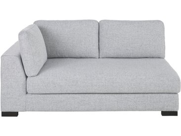 2-Sitzer-Sofamodul mit Armlehne links, ausziehbar und hellgrau meliert Terence