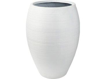 Pflanzgefäß aus weißem Kunstharz H76