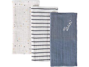 3 Babywindeln aus bedruckter Baumwolle 70x70