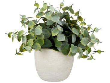 Künstliche Pflanze im Topf aus weißer Keramik