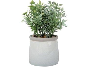 Künstliche Pflanze im Topf aus ecrufarbener Keramik