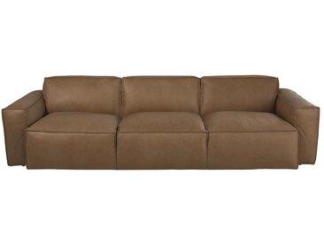 4-Sitzer-Sofa mit Lederbezug, camelfarben Jupiter