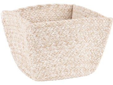Korb aus Seil und Baumwolle, beige