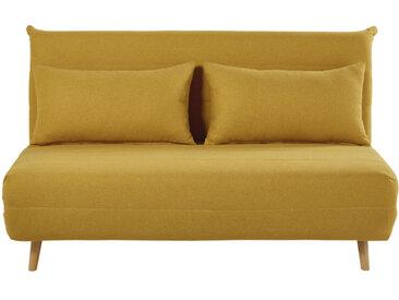 Ausklappbare 2-Sitzer-Bettbank senfgelb Nio