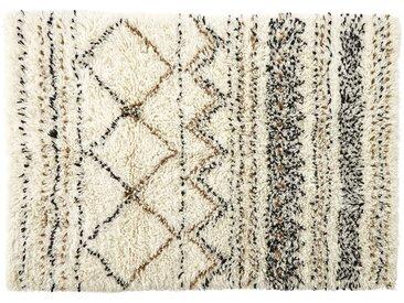 Berberteppich aus Wolle und Baumwolle mit Shaggy-Effekt 140x200