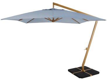 Freiarm-Sonnenschirm aus Aluminium, jeansblau Camberra