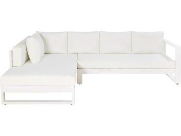 4/5-Sitzer-Gartenecksofa aus weißem Aluminium Thetis
