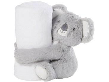 Babydecke, weiß mit grauem Koala 75x100