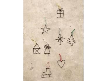 Anhänger Kleine Weihnachtsgrüße Good old friends, Designer Sarah Baumann, 7.5x7x0.3 cm