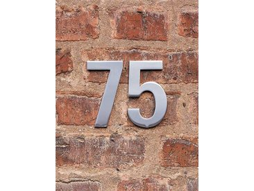 FSB Hausnummer 6 Edelstahl 12.5x0.4 cm, Designer Otl Aicher