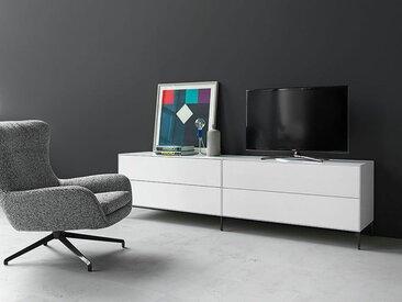 Medien- oder Schubkastenbox Nex Pur Piure weiß, Designer Studio Piure, 52.5x120x48 cm