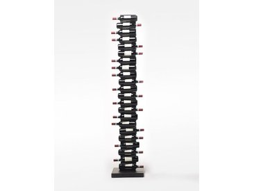 Opinion Ciatti Weinregal Ptolomeo Vino schwarz, Designer Bruno Rainaldi, 213x40x40 cm